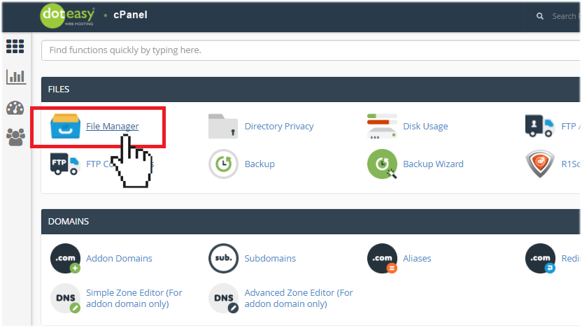 Doteasy cPanel File Manager