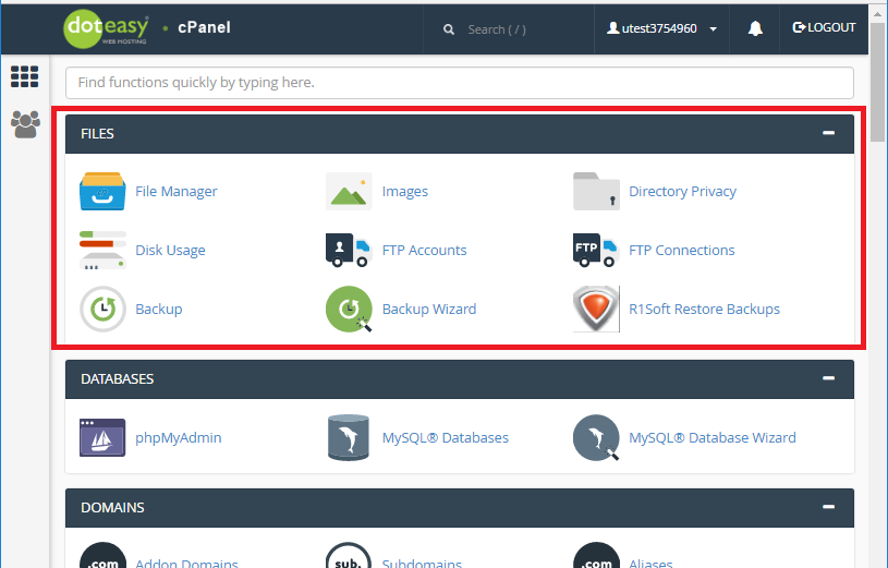 cPanel File Management