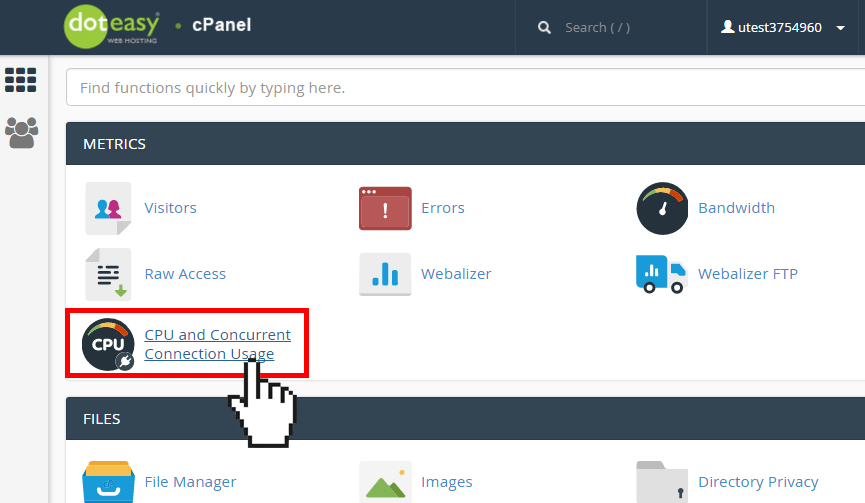 cPanel concurrent usage