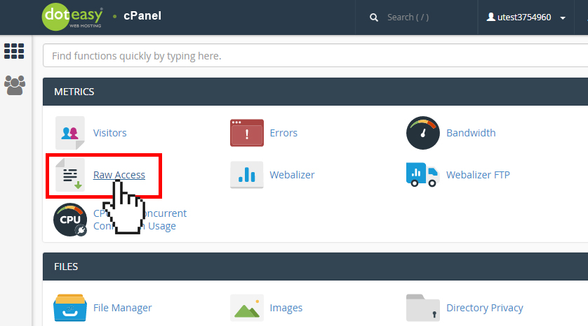 cPanel Raw Access