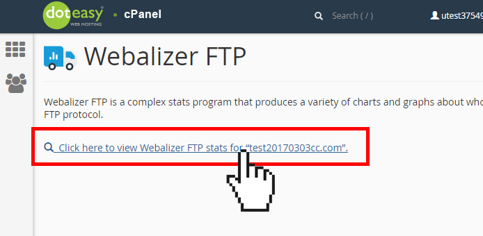viewing cPanel Webalizer FTP statistic