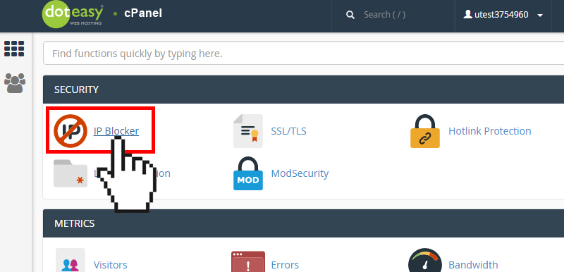 cPanel IP blocker