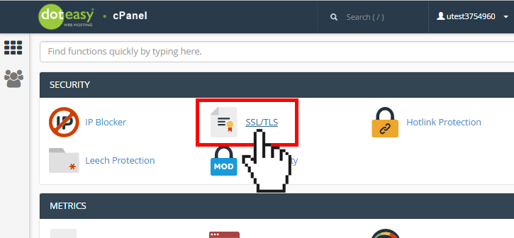 cPanel SSL TLS