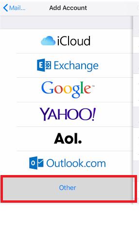 ios mail add account