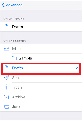 ios draft mailbox