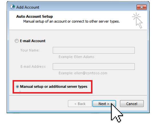 Outlook Manual Setup