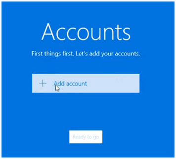 Windows 10 Mail Welcome Window