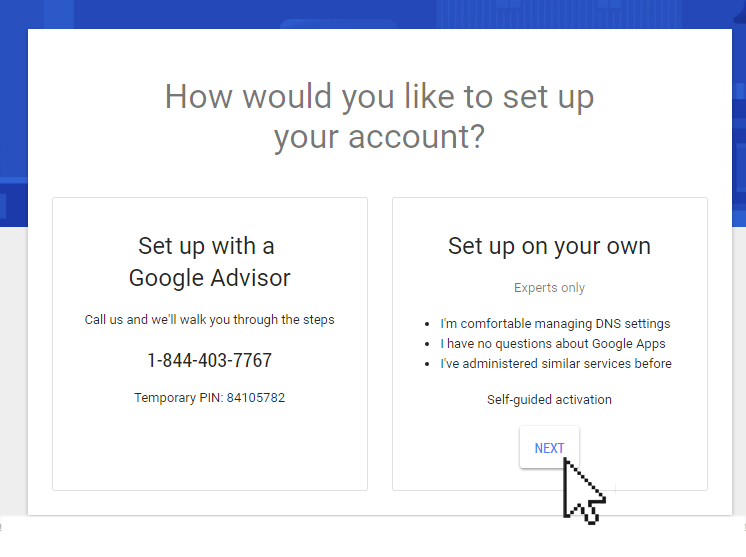 Setting up your domain email with Google Apps | Doteasy