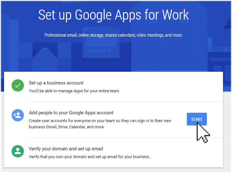 start setup Google app