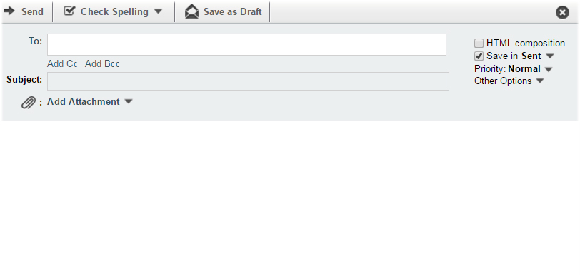compose new email horde