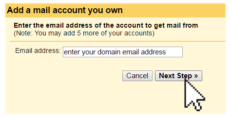adding a mail account into gmail