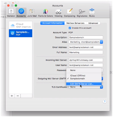 Accessing your domain emails using Mac Mail | Doteasy