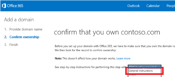 general instructions Office 365