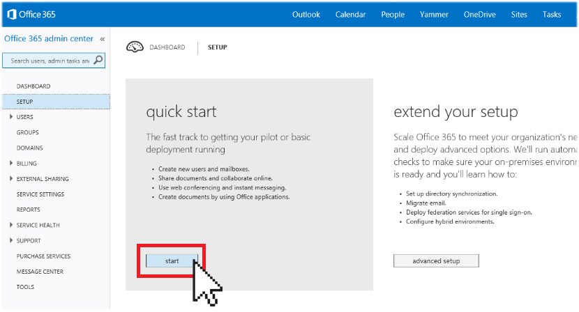 Office 365 quick start
