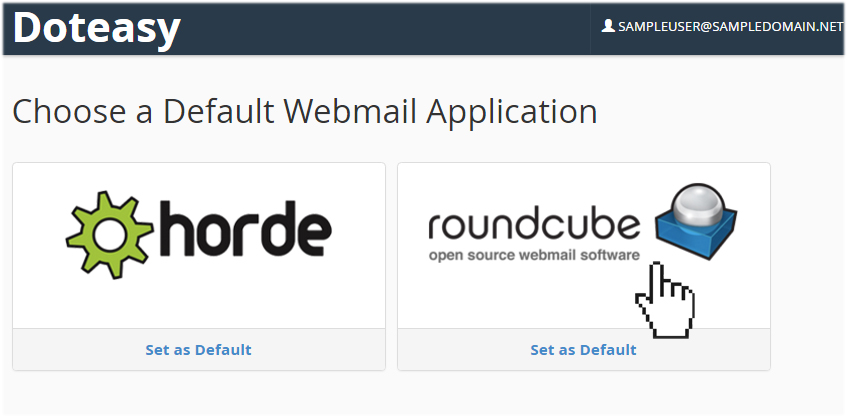 Accessing your emails using RoundCube | Doteasy com