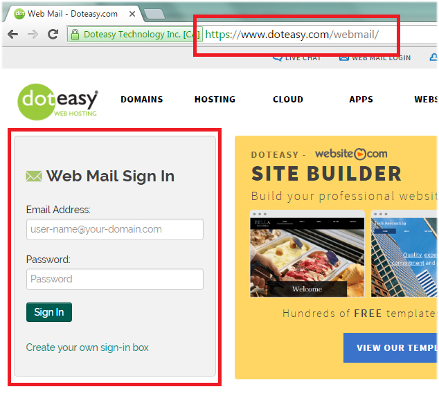 Doteasy webmail signin