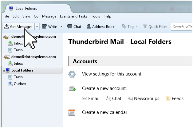 Thunderbird get message