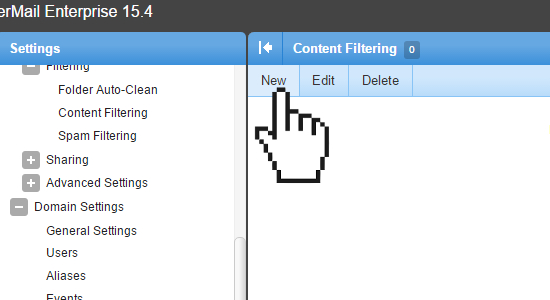 Smartermail Content Filtering