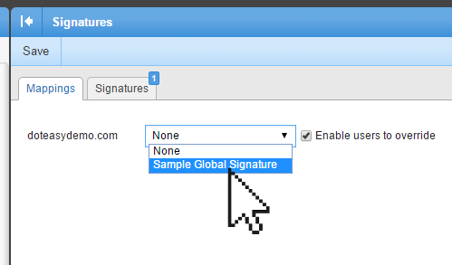 Creating Global Domain Email Signature In Smartermail  DoteasyCom