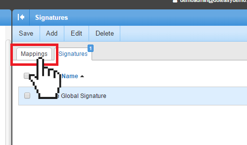 Smartermail Signatures mapping