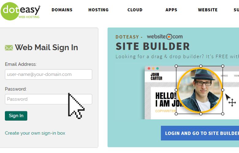 Doteasy webmail