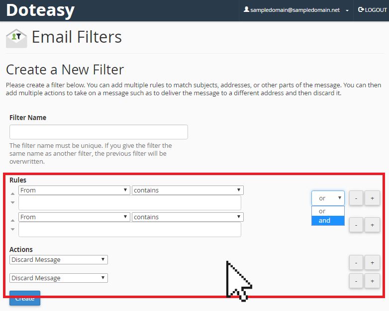 create a new filter page
