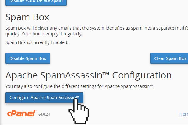 SpamAssassin configuration