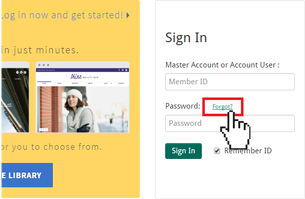 Doteasy Member Zone forgot password