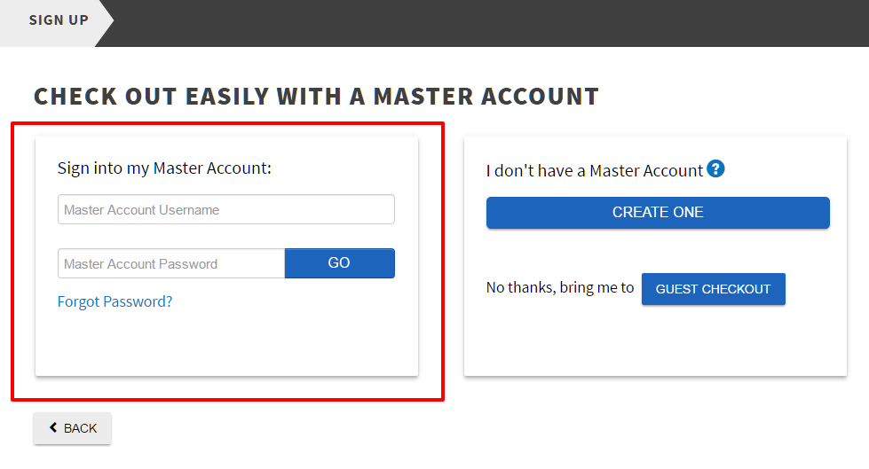 Doteasy Master Account sign up