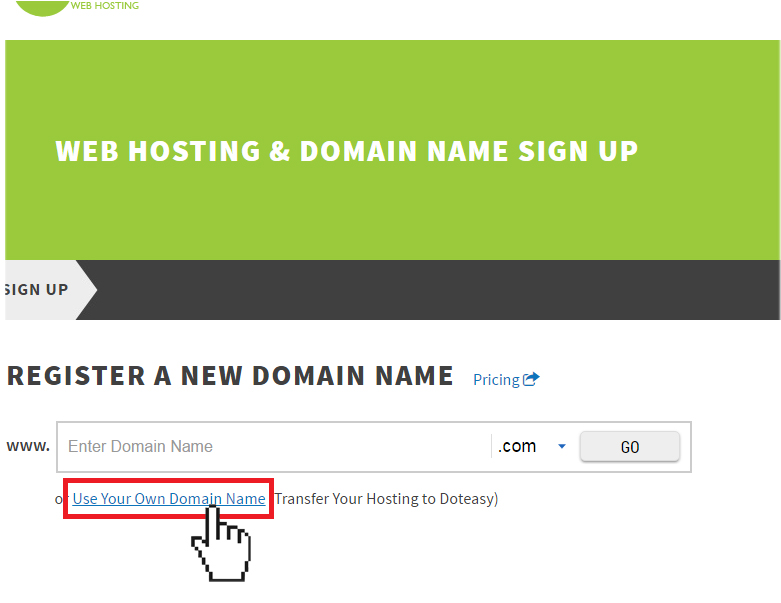 Doteasy Transfer Hosting