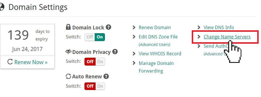 Doteasy change name servers