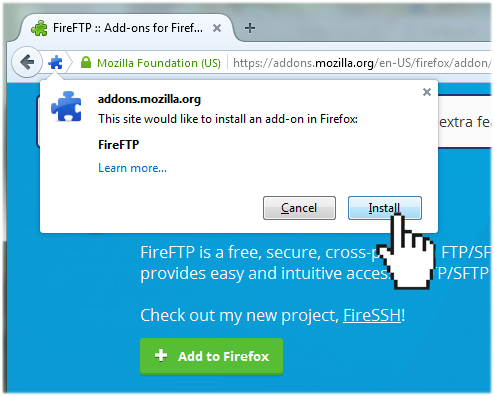 Uploading your web files using FireFTP (Windows) | Doteasy com
