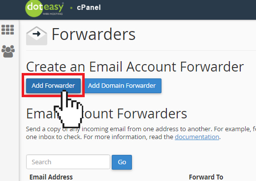 add email forwarder