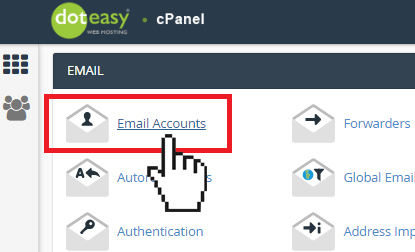 Doteasy cPanel email accounts