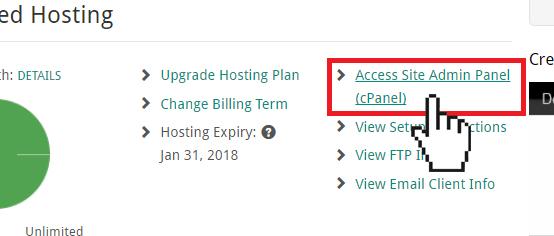 Doteasy cPanel access