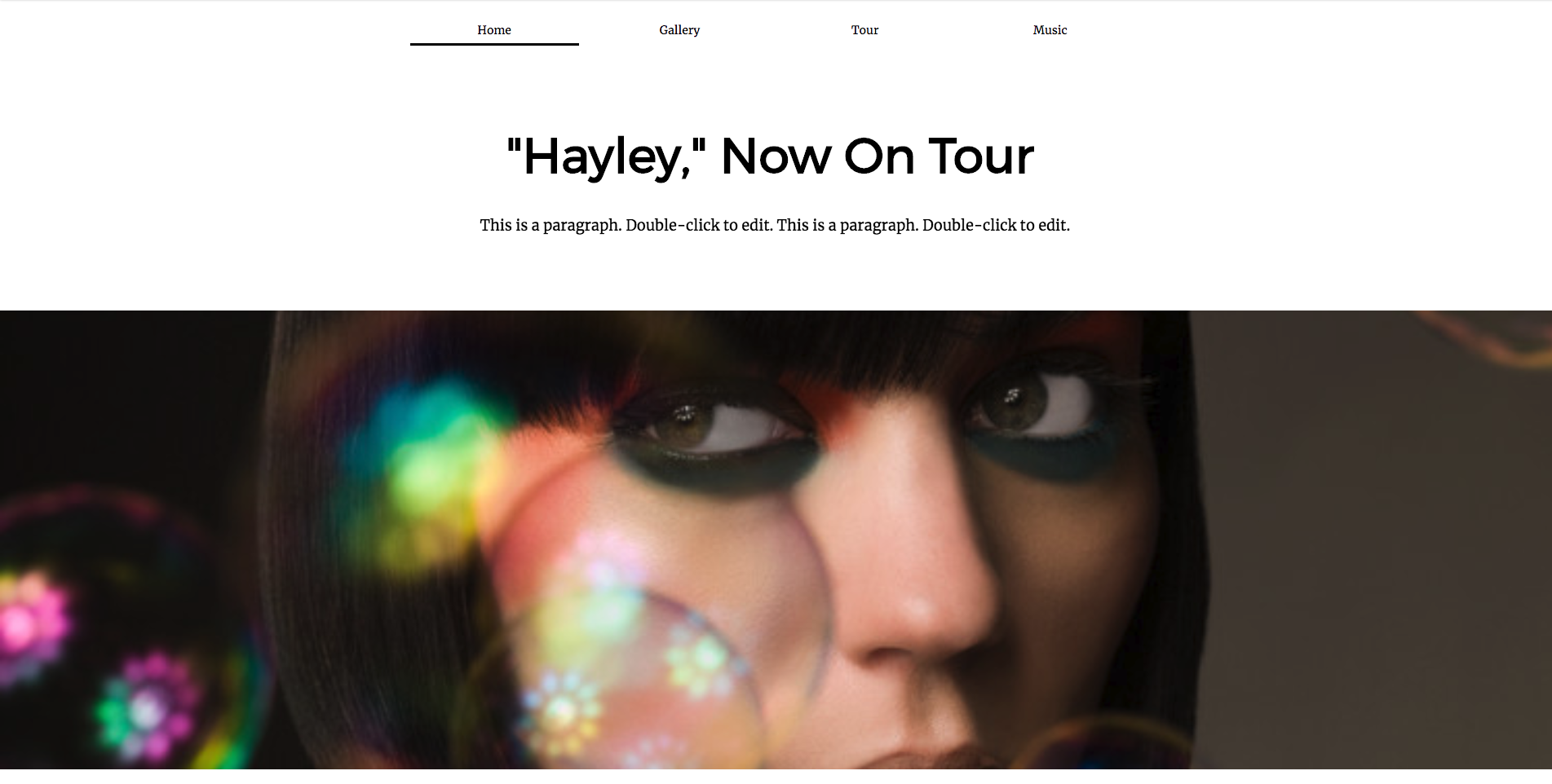 Website.com On Tour Template