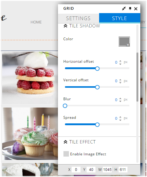 grid image gallery style