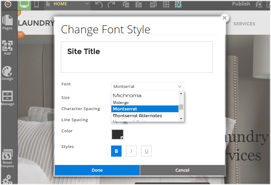 change font style