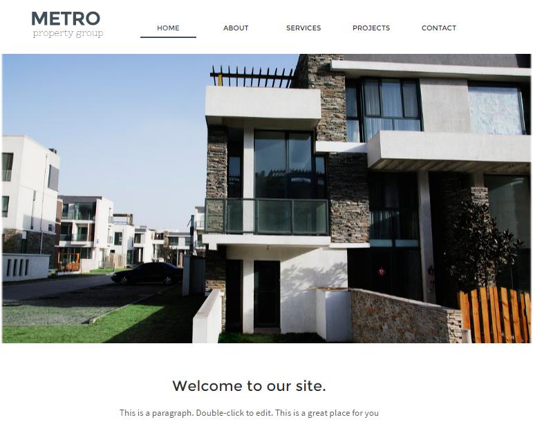 website with horizontal menu bar 2