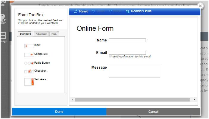 webform builder